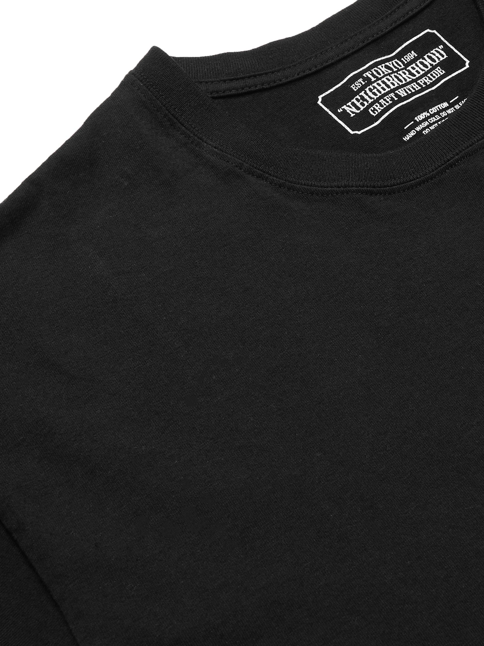 Black + Mr Cartoon Printed Cotton-jersey T-shirt | Neighborhood