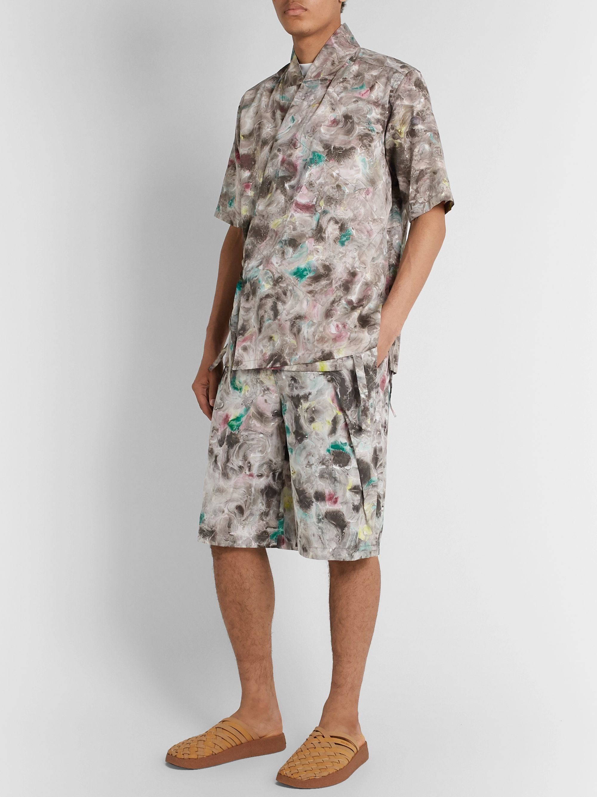 Sasquatchfabrix. Printed Cotton-Poplin Shirt