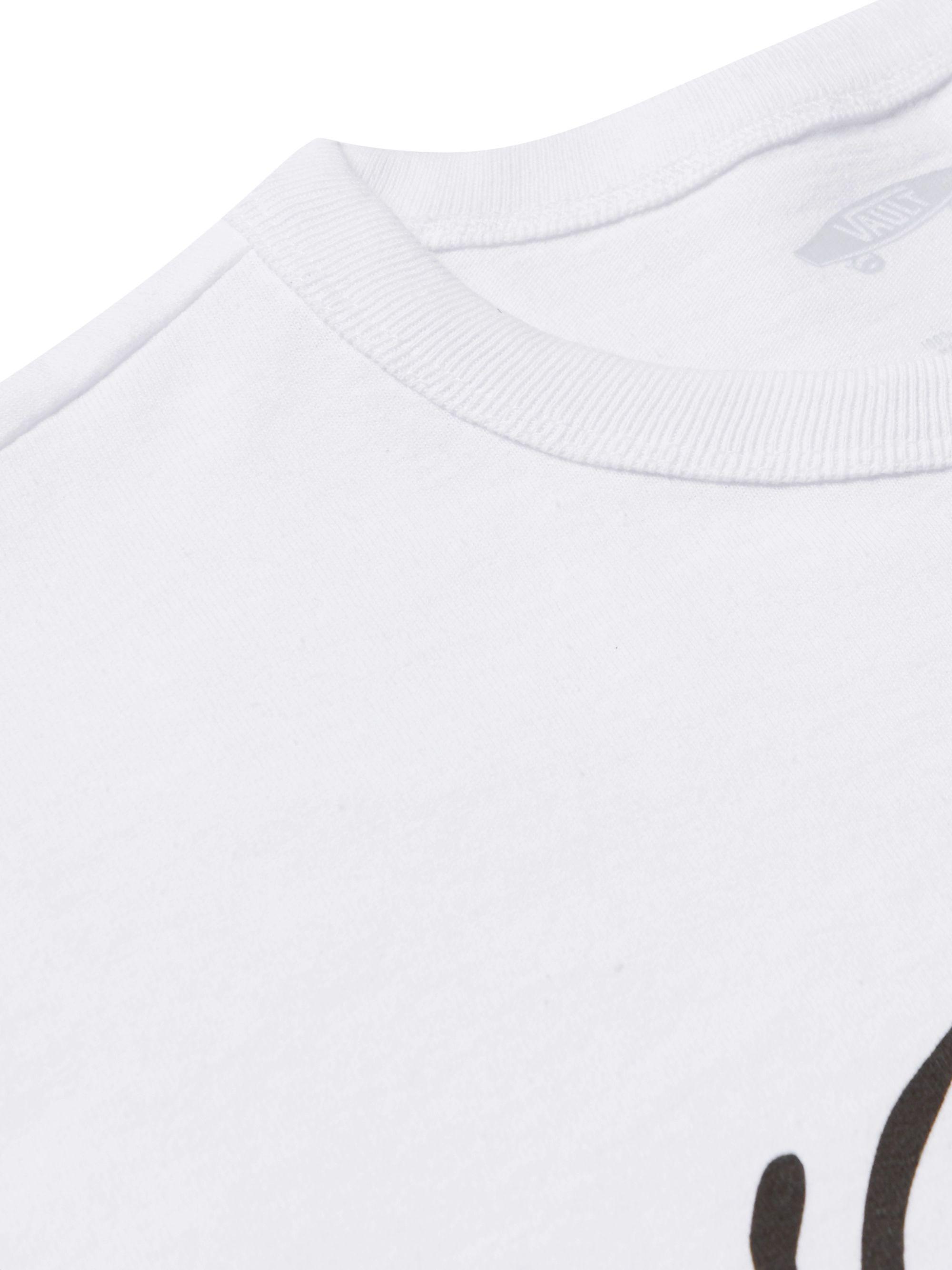 White Vault Logo-print Organic Cotton-jersey T-shirt | Vans