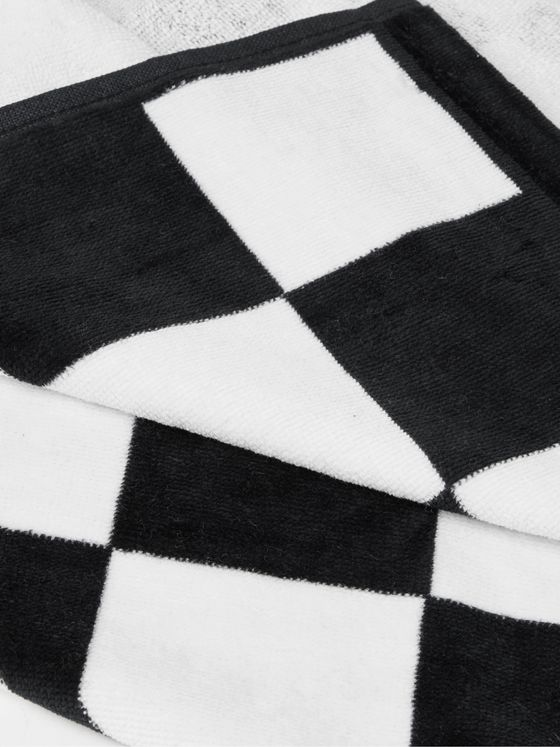 Vans Logo-Print Checkerboard Cotton-Terry Beach Towel