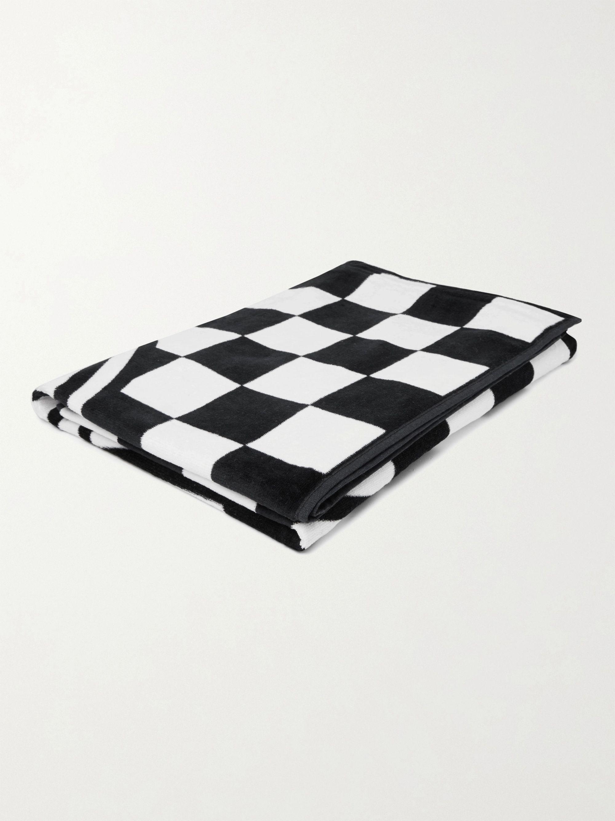 Vans Logo-Print Checkerboard Cotton-Terry Beach Towel