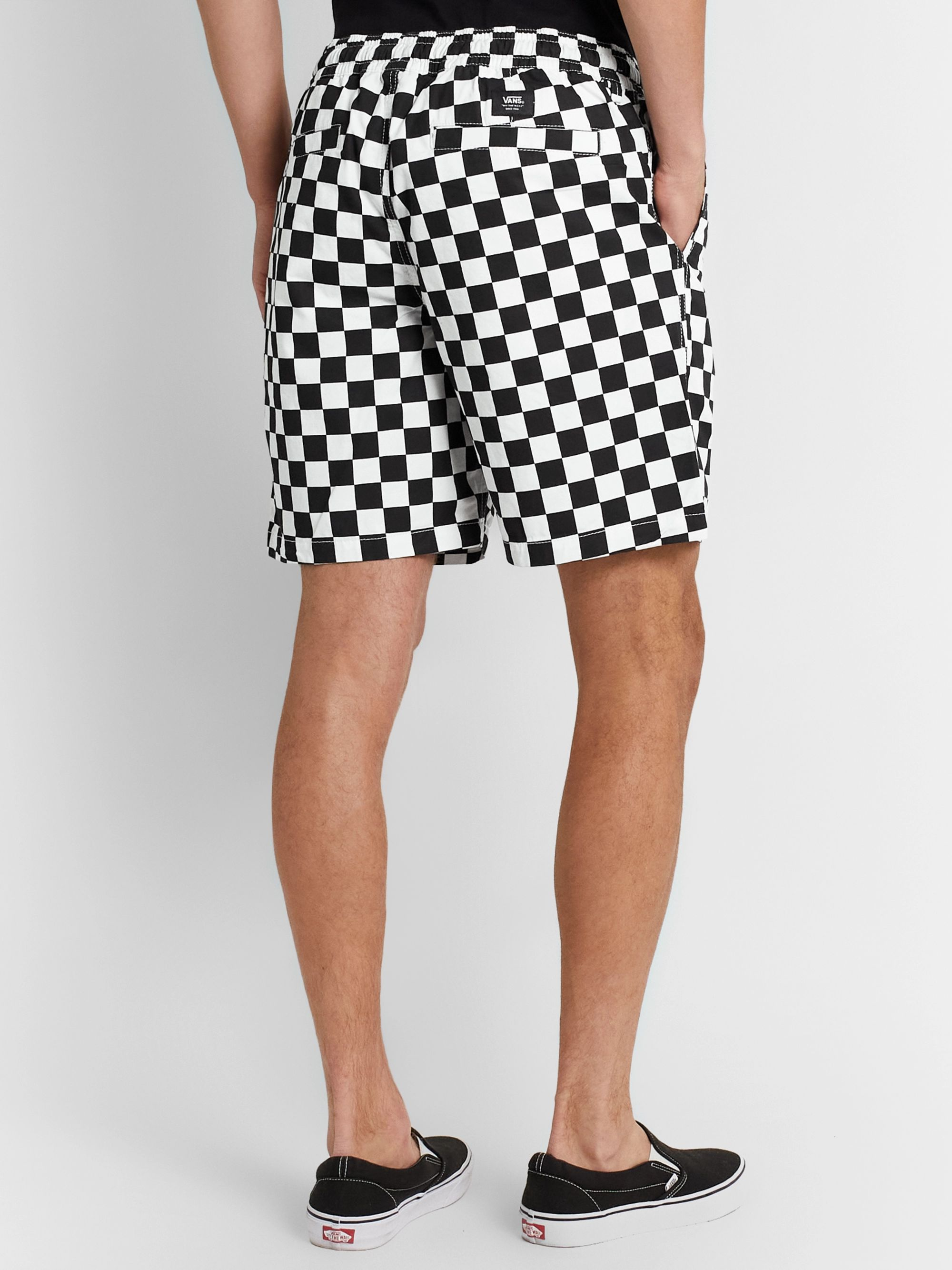 Vans Range Checkerboard Cotton-Twill Drawstring Shorts