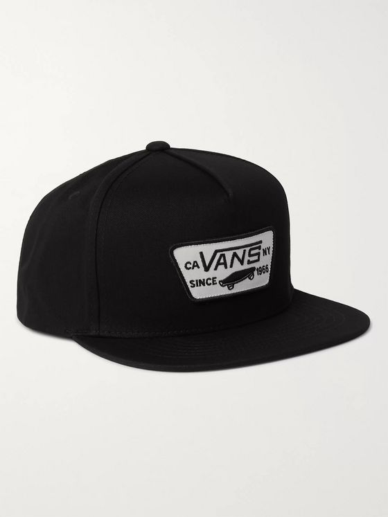 Vans Logo-Appliquéd Cotton-Twill Baseball Cap