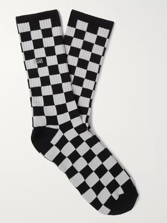 Vans Checkerboard II Logo-Embroidered Jacquard-Knit Socks