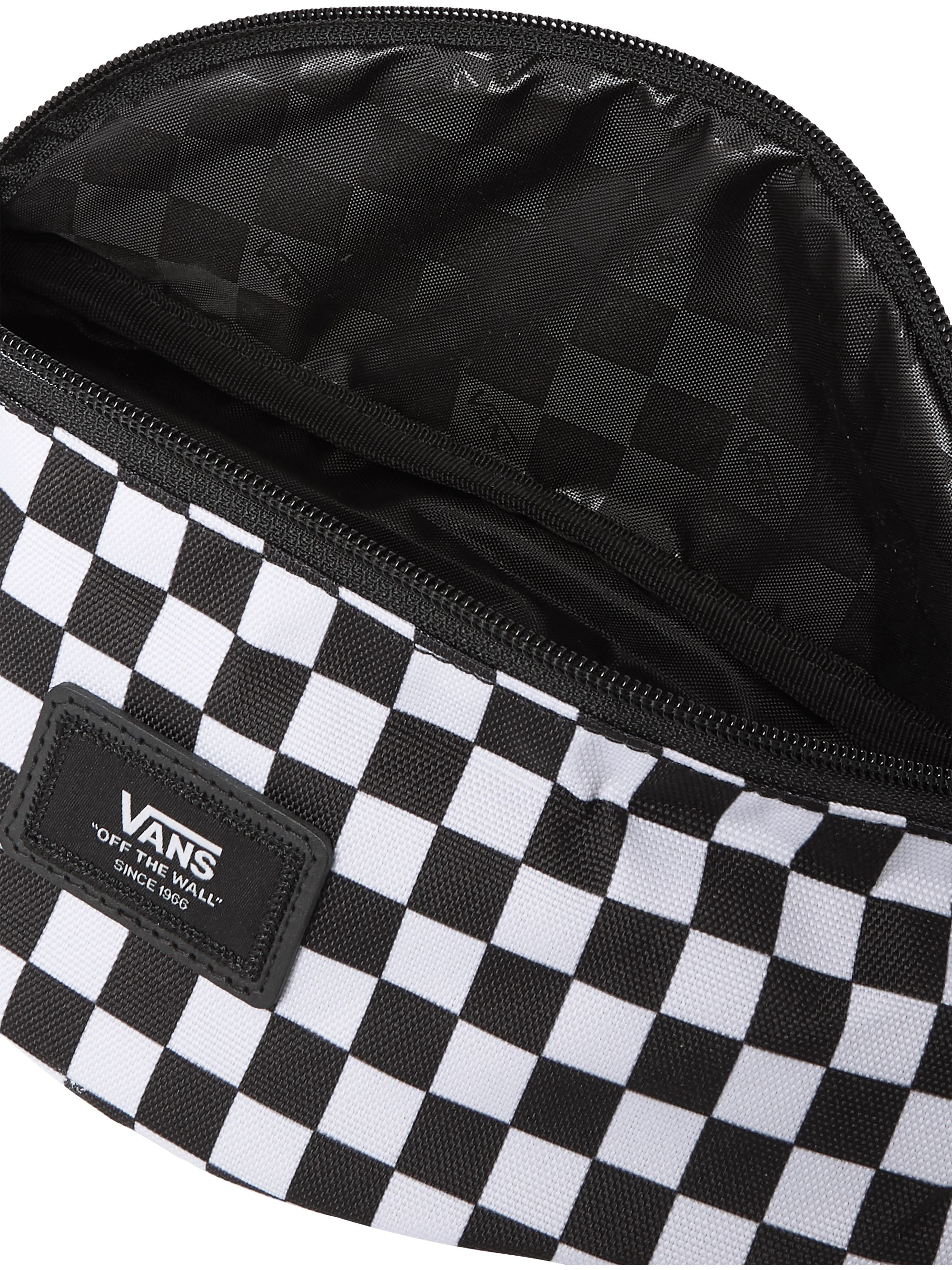 Vans Logo-Appliquéd Leather-Trimmed Checkerboard Nylon Belt Bag
