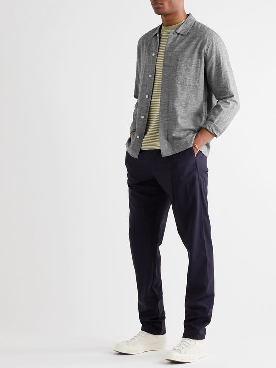 Folk Mélange Linen and Cotton-Blend Shirt