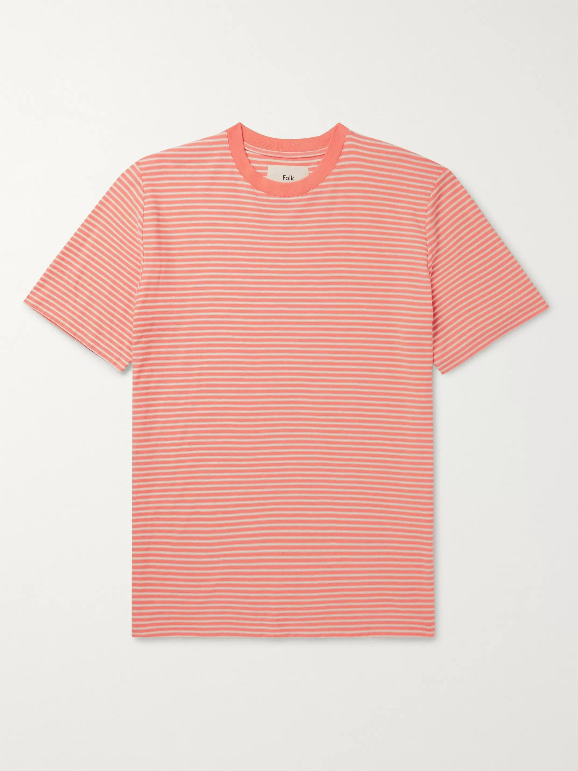 Folk Striped Cotton-Jersey T-Shirt