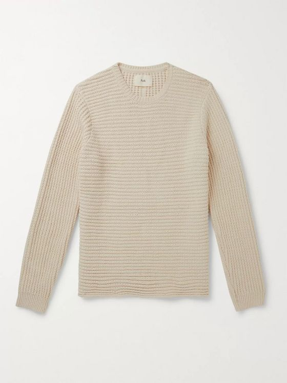 Folk Junction Ribbed Cotton Sweater
