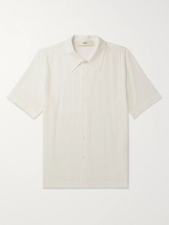Séfr Suneham Embroidered Cotton-Blend Shirt