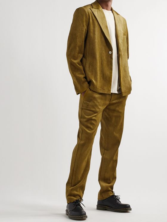 Séfr Unstructured Velvet Suit Jacket