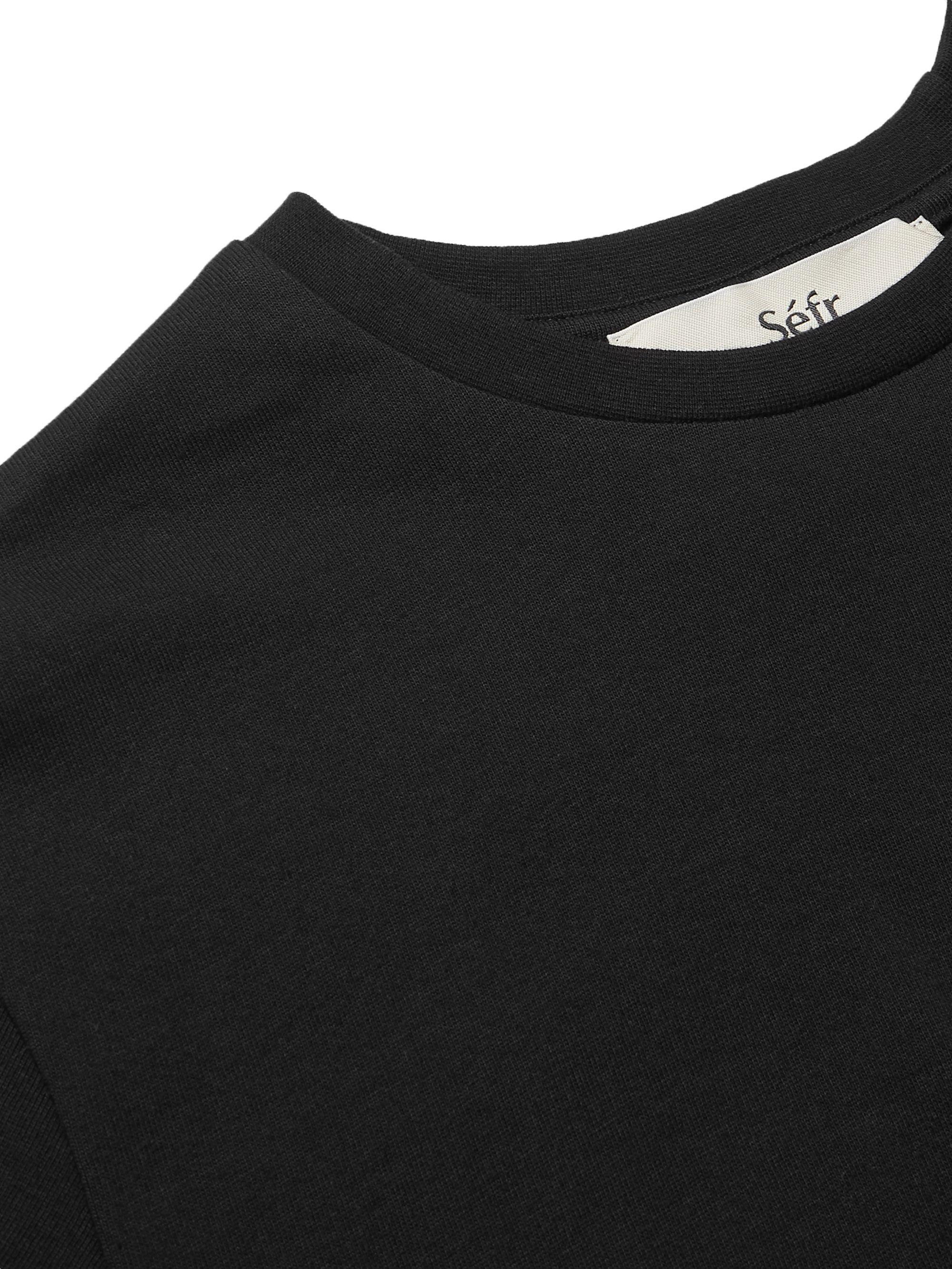 Black Clin Cotton-jersey T-shirt   Séfr