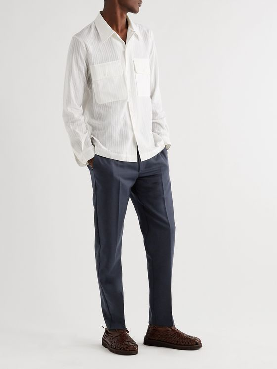 Séfr Harvey Slim-Fit Tapered Woven Trousers