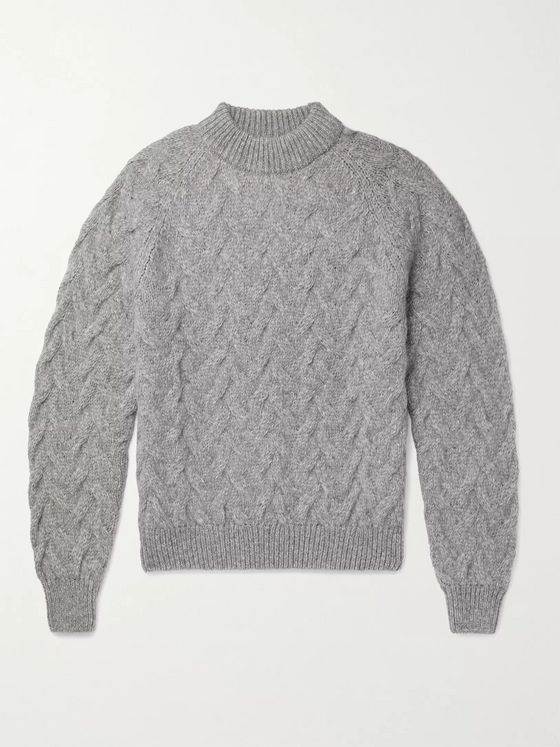 SÉFR Abi Cable-Knit Baby Alpaca-Blend Sweater