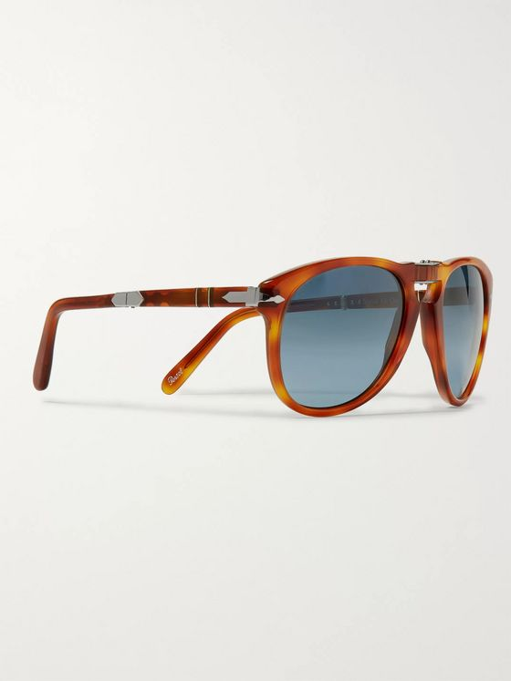 Persol Round-Frame Folding Mirrored Sunglasses