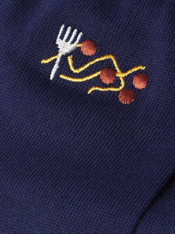 PAUL SMITH Embroidered Cotton-Blend Socks