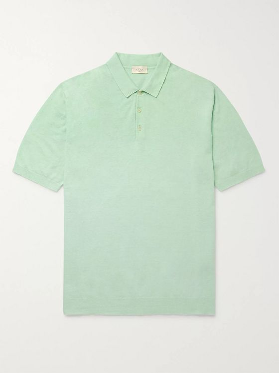 Altea Linen and Cotton-Blend Polo Shirt