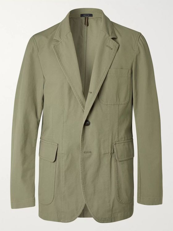 Drake's Unstructured Linen Suit Jacket
