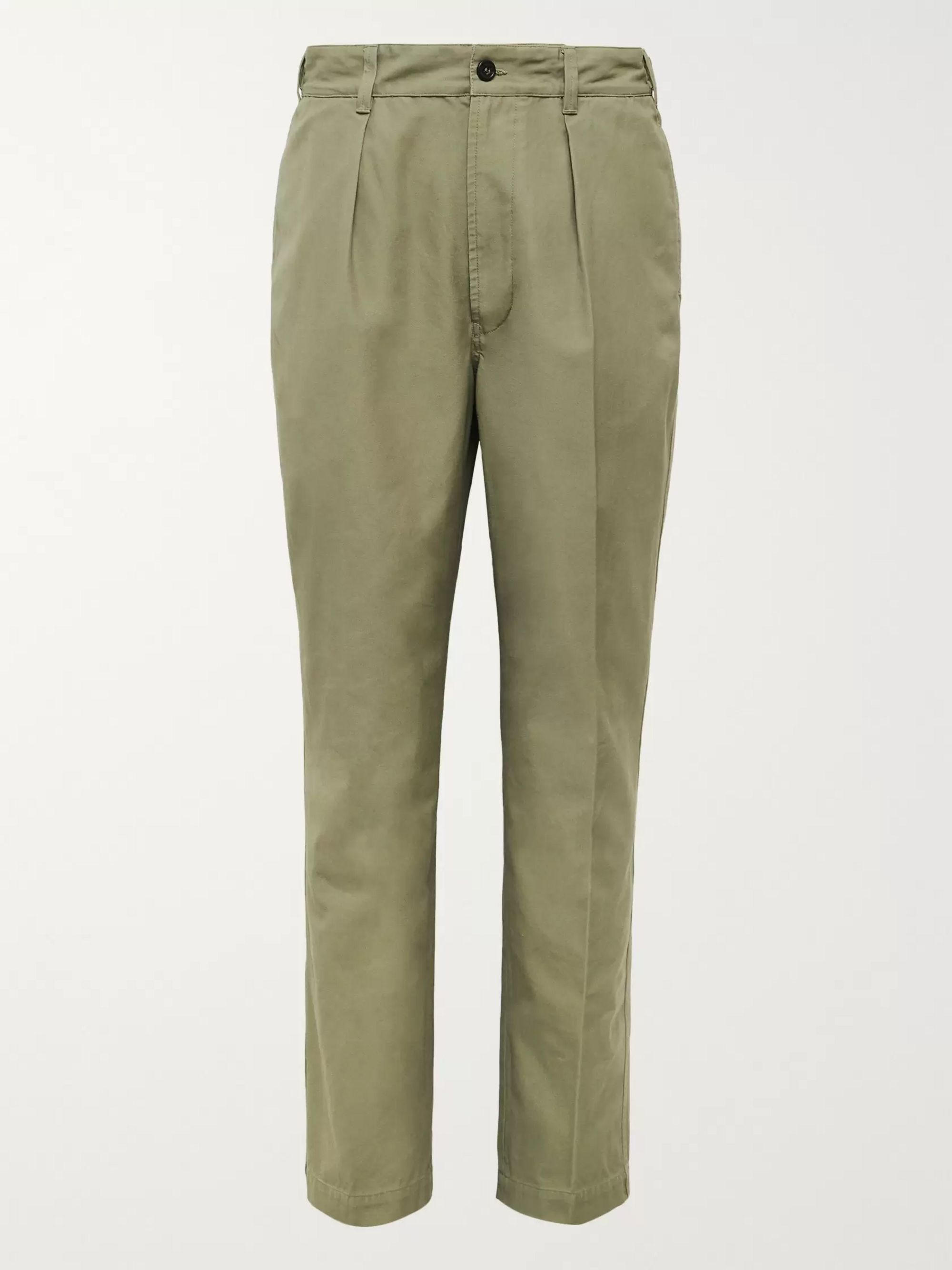 Drake's Pleated Cotton-Corduroy Suit Trousers