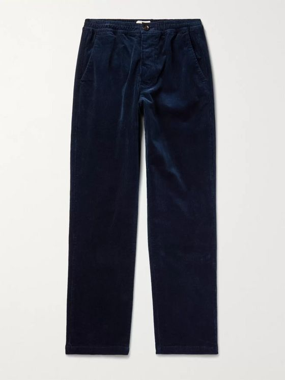 OLIVER SPENCER Cotton-Blend Corduroy Trousers