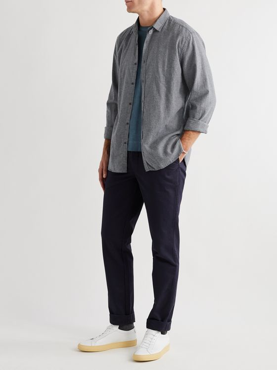 Oliver Spencer Clerkenwell Micro-Checked Cotton Shirt