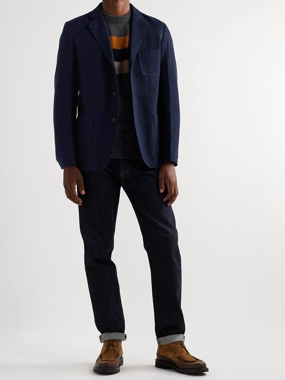 OLIVER SPENCER Solms Virgin Wool and Cotton-Blend Twill Blazer