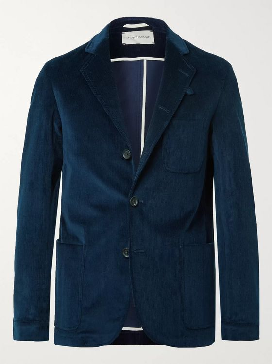 Oliver Spencer Solms Stretch-Cotton Corduroy Blazer