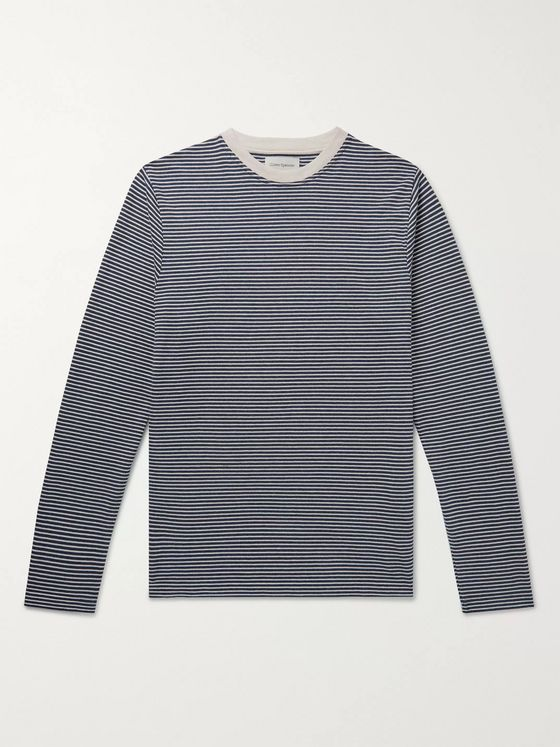 Oliver Spencer Striped Organic Cotton-Jersey T-Shirt