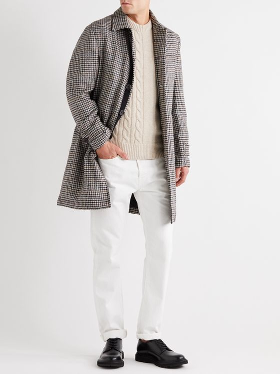 Oliver Spencer Houndstooth Wool Coat