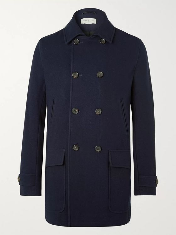 Oliver Spencer Clerkenwell Wool Peacoat