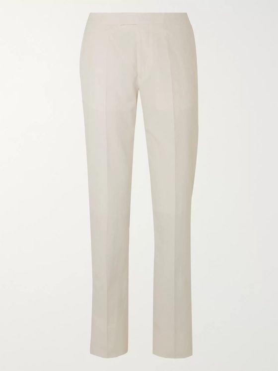 Favourbrook Slim-Fit Cotton and Linen-Blend Trousers
