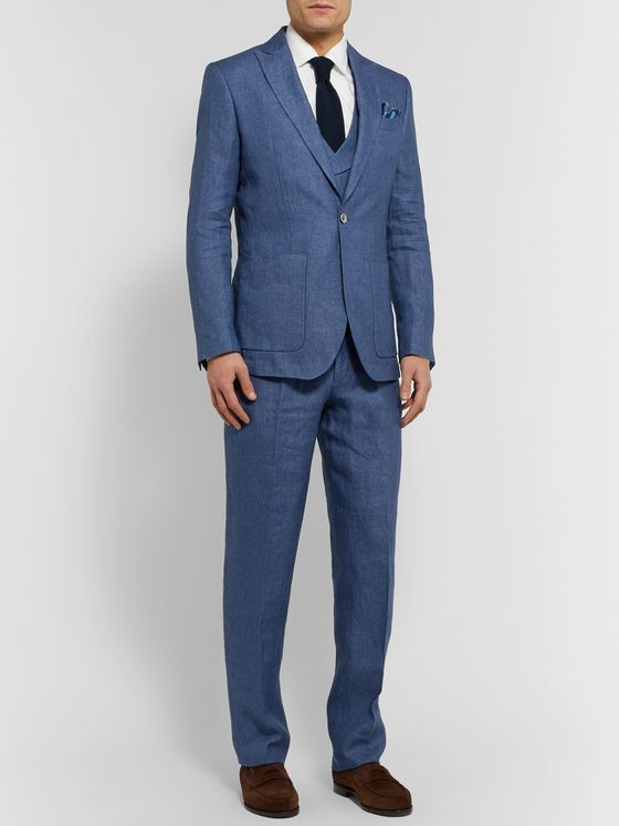 Favourbrook Woodcroft Newport Slim-Fit Unstructured Linen-Twill Suit Jacket