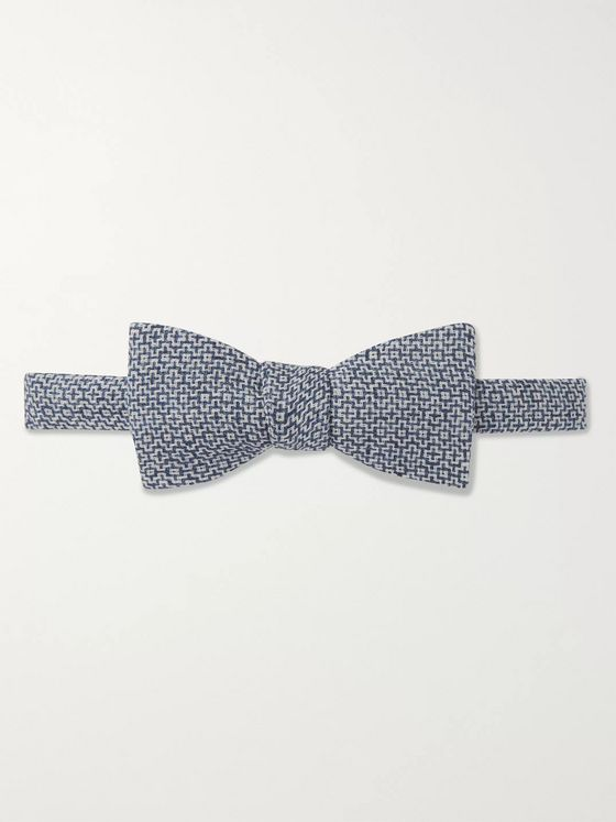 Favourbrook Audley Pre-Tied Wool and Silk-Blend Jacquard Bow Tie