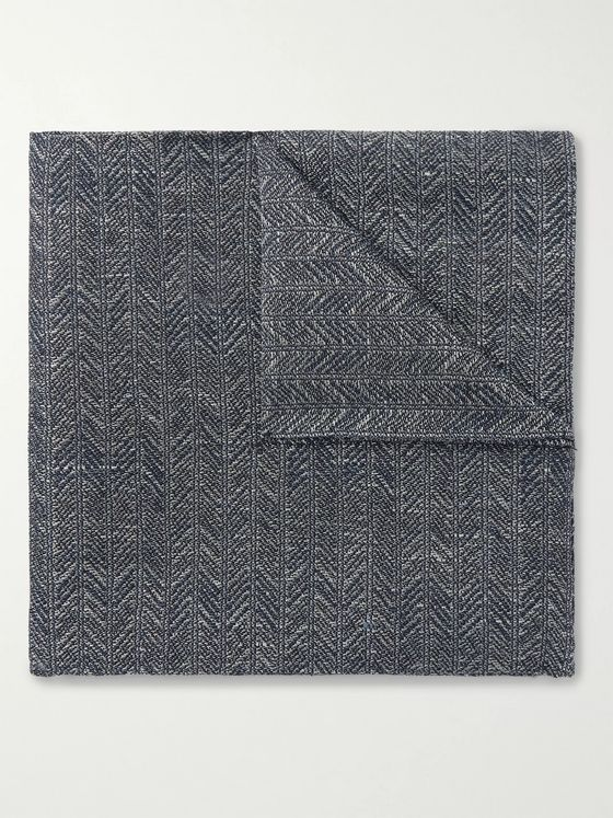 Favourbrook Culcross Linen-Jacquard Pocket Square