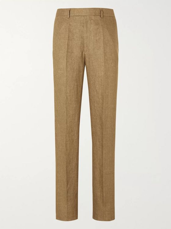 Favourbrook Navy Evering Linen Suit Trousers
