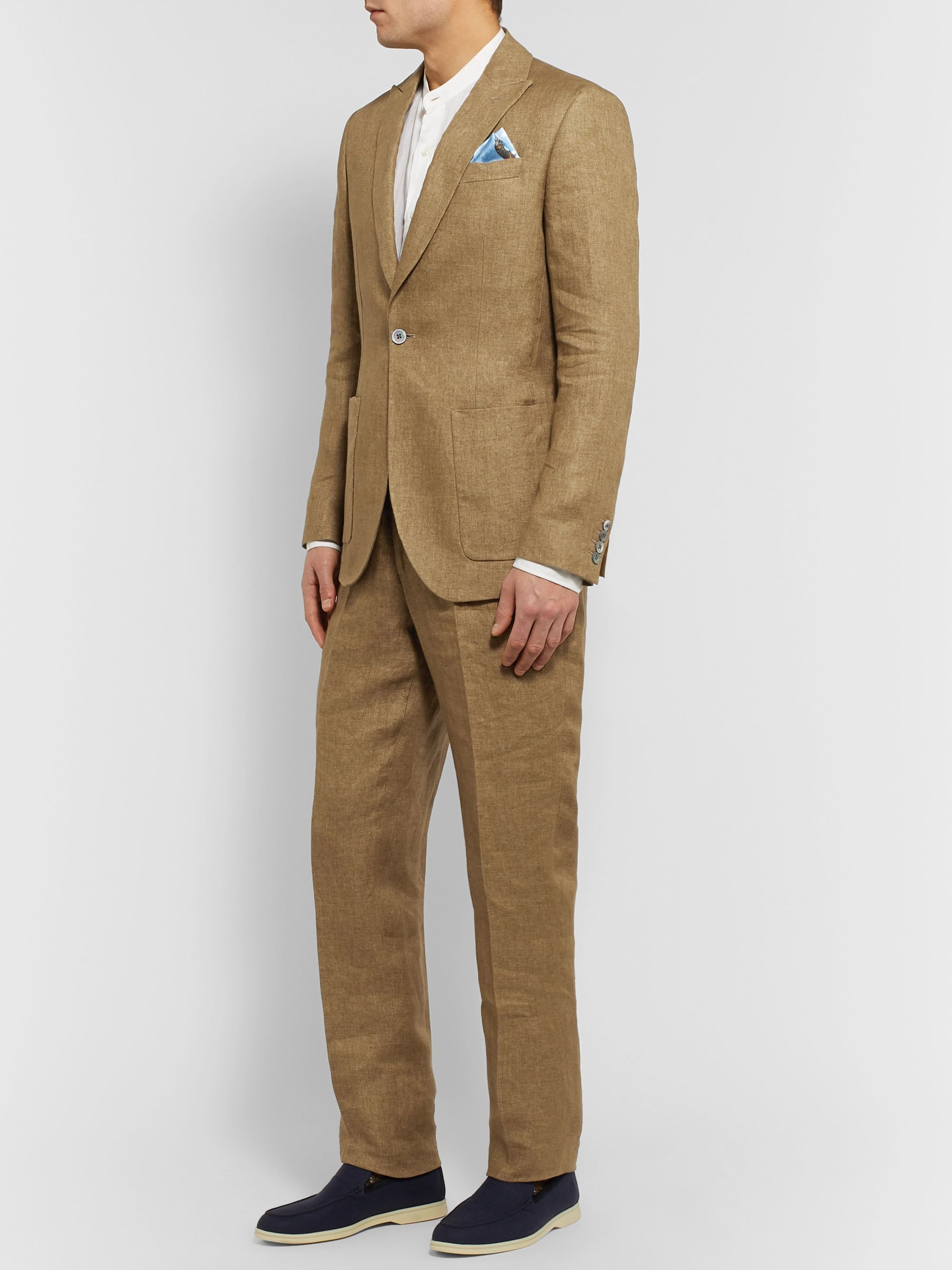 Favourbrook Stone Evering Linen Suit Trousers