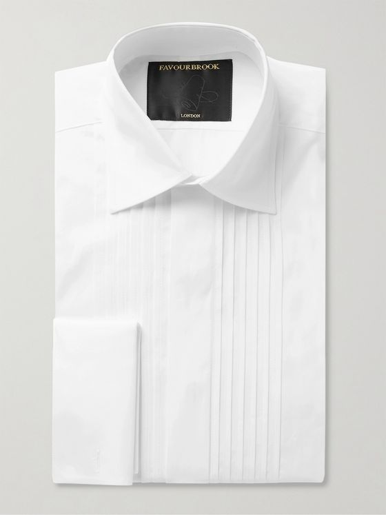 Favourbrook Bib-Front Double-Cuff Cotton-Poplin Shirt