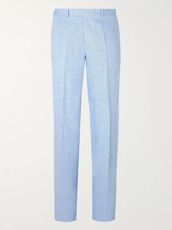 Favourbrook Evering Windsor Slim-Fit Linen Trousers