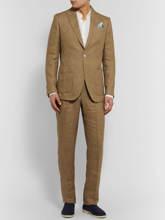 Favourbrook Kirtling York Slim-Fit Unstructured Linen Suit Jacket