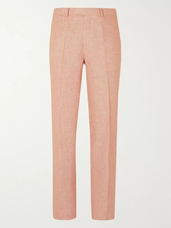 Favourbrook Culcross Windsor Slim-Fit Linen-Jacquard Suit Trousers