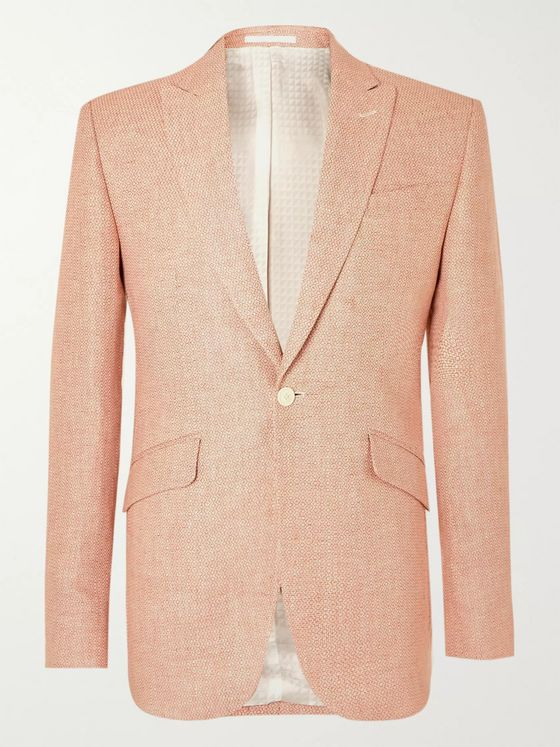Favourbrook Culcross Newport Slim-Fit Linen-Jacquard Suit Jacket