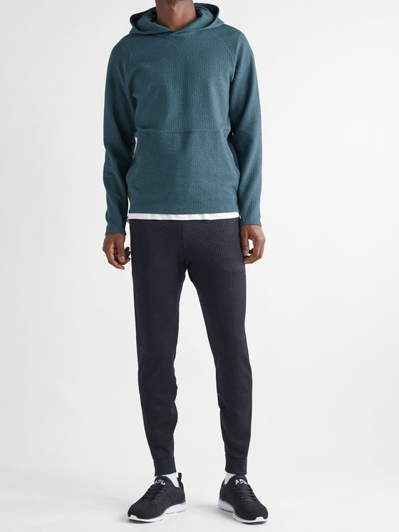 Lululemon At Ease Textured Stretch-Cotton Hoodie