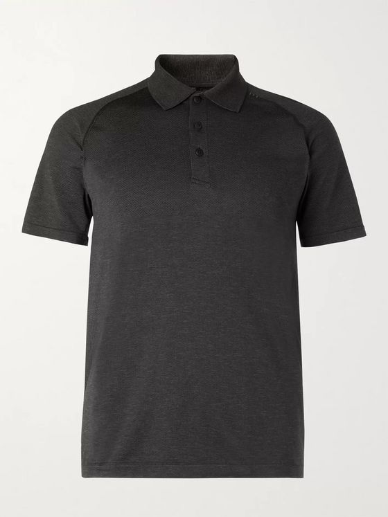 LULULEMON Metal Vent 2.0 Tech-Mesh Polo Shirt