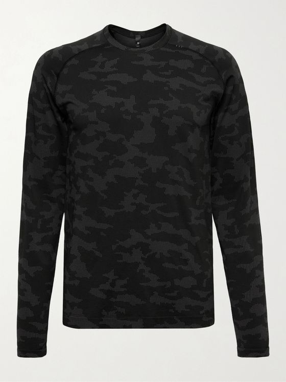 Lululemon Metal Vent Tech 2.0 Camouflage-Print Recycled Stretch-Jersey T-Shirt