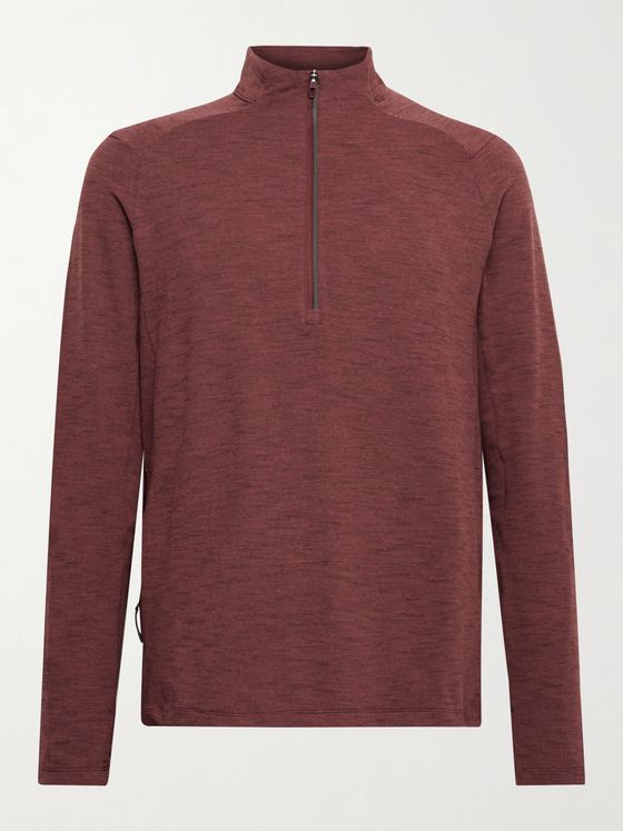 LULULEMON Surge Warm Rulu Slim-Fit Mélange Half-Zip Top