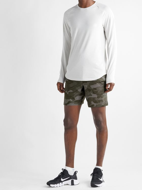LULULEMON T.H.E. Camouflage-Print Recycled Stretch-Shell Shorts