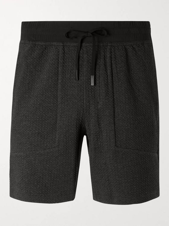 Lululemon At Ease Textured Cotton-Blend Jersey Shorts