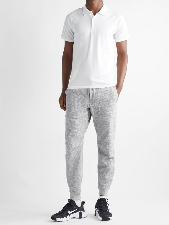 Lululemon At Ease Tapered Textured Cotton-Blend Sweatpants