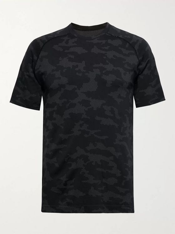Lululemon Metal Vent Tech 2.0 Camouflage-Print Recycled Tech-Jersey T-Shirt