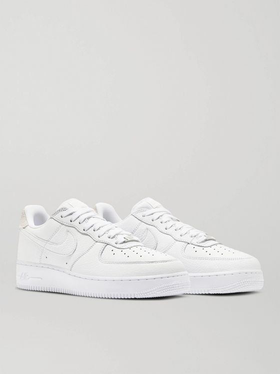NIKE Air Force 1 07 Suede-Trimmed Leather Sneakers