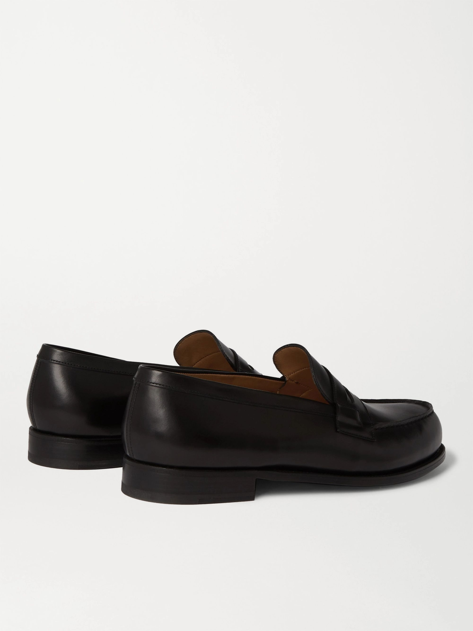 Black 180 Moccasin Leather Loafers | J.m. Weston